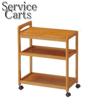 キッチンワゴン 木製 キッチン収納 キッチンラック カート ワゴン 天板取り外し可能 手押しハンドル付 キャスター付 UT-0644