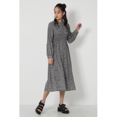 (SHEL'TTER SELECT/シェルターセレクト)Waist Gather Dress/レディース 柄BLK5