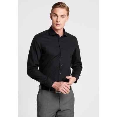 サイデンステッカー シャツ メンズ トップス SLIM SPREAD KENT PATCH - Formal shirt - black