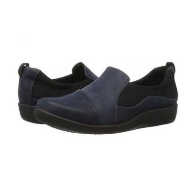 Clarks クラークス レディース 女性用 シューズ 靴 ローファー ボートシューズ Sillian Paz - Navy Synthetic Nubuck