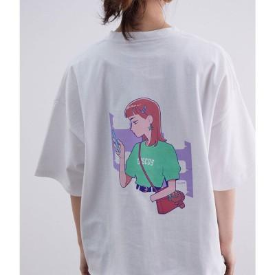 ビス ViS 【ともわかコラボ】【WEB限定】天竺裾メロービッグTシャツ (ホワイト系(11))