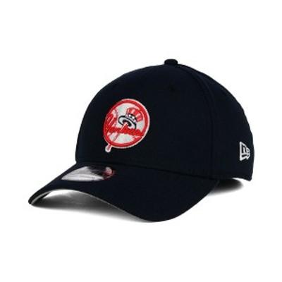 ニューエラ メンズ 帽子 アクセサリー New York Yankees Core Classic 39THIRTY Cap Navy