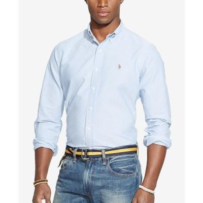 ラルフローレン シャツ トップス メンズ Men's Classic Fit Long Sleeve Solid Oxford Shirt Blue