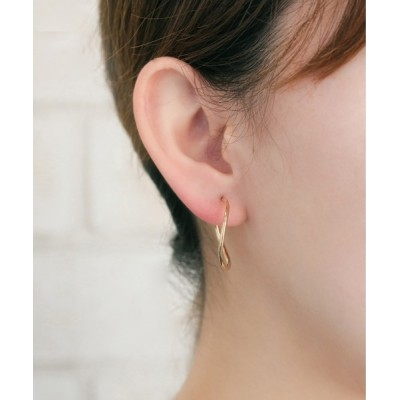 L&Co. / K18 フープ ピアス WOMEN アクセサリー > ピアス(両耳用)