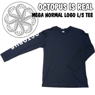 OCTOPUS IS REAL オクトパスイズリアル ロンT 長袖Tシャツ MEGA NORMAL LOGO L/S TEE メガ ノーマル ロゴ ティー メンズ 日本正規品