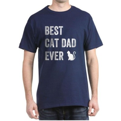 ユニセックス 衣類 トップス CafePress - Best Cat Dad Ever T Shirt - 100% Cotton T-Shirt Tシャツ