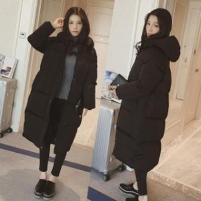 冬新作 コート ロングコート ダウンコート レディースコート ゆったり フード付き 厚手 体型カバー 通勤 通学 中綿 暖かい
