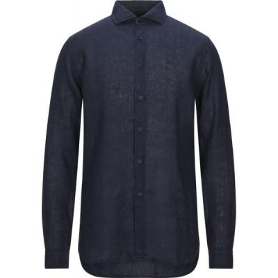 ザカス XACUS メンズ シャツ トップス Linen Shirt Dark blue