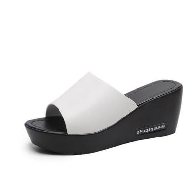 サンダル レディース スリッパ ウェッジソール 厚底サンダル 夏 靴 シューズ ビーチサンダル ファッション 7cm