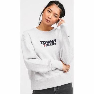 トミー ジーンズ Tommy Jeans レディース スウェット・トレーナー トップス Corp Heart Sweatshirt Grey