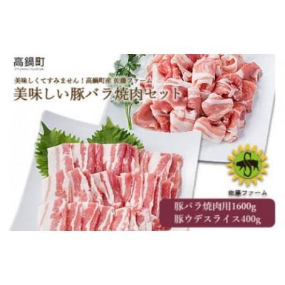 <高鍋町産 佐藤ファーム 美味しい豚バラ肉セット合計2kg>