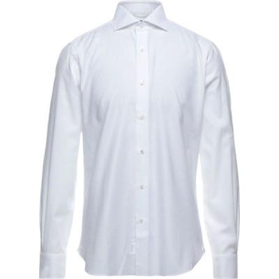 バルバ BARBA Napoli メンズ シャツ トップス Solid Color Shirt White