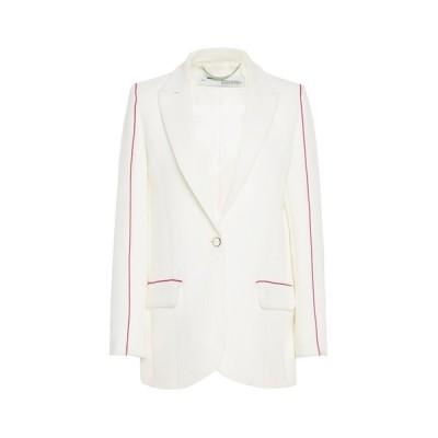 オフホワイト レディース ジャケット&ブルゾン アウター Off-White Contrasting Trim Blazer -