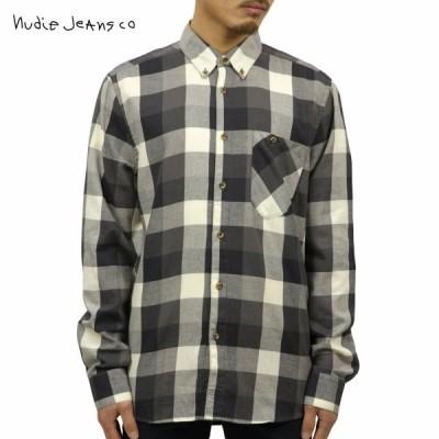 ヌーディージーンズ シャツ メンズ Nudie Jeans 長袖 Stanley Black 140340