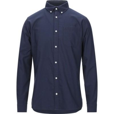 ジャック アンド ジョーンズ JACK & JONES メンズ シャツ トップス solid color shirt Blue