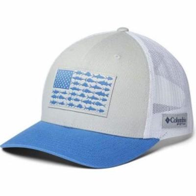 コロンビア Columbia ユニセックス キャップ 帽子 PFG Mesh Snap Back Fish Flag Ball Cap - High Crown Cool Grey/White/Vivid Blue