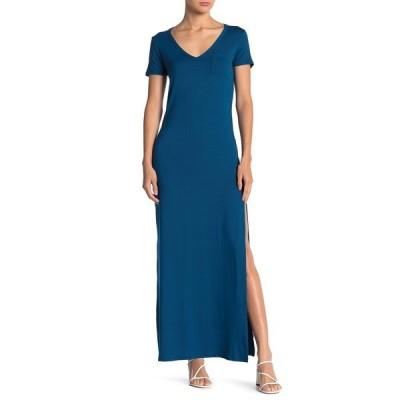 ベルベットトーチ レディース ワンピース トップス Side Slit Knit Maxi Dress TEAL