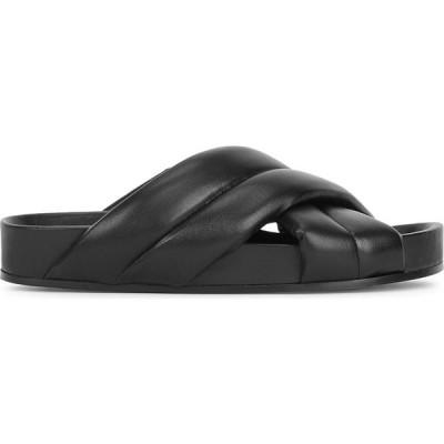 ジル サンダー Jil Sander レディース サンダル・ミュール シューズ・靴 Black padded leather sliders Black