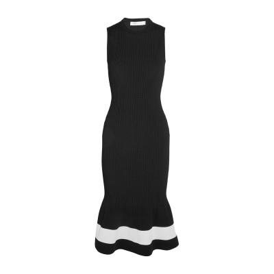 VICTORIA BECKHAM 7分丈ワンピース・ドレス ブラック 3 レーヨン 75% / ポリエステル 15% / ナイロン 9% / ポリウ