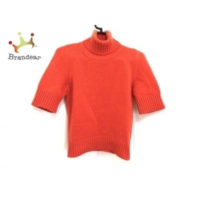 セリーヌ CELINE 半袖セーター サイズS レディース オレンジ タートルネック/ショート丈 新着 20200720