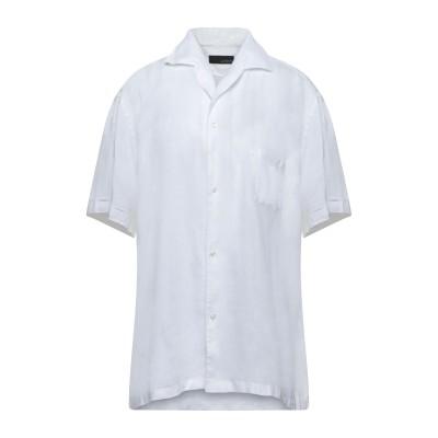 ラルディーニ LARDINI シャツ ホワイト XXL リネン 100% シャツ