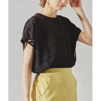 ORiental TRaffic / シアーオパールレースドレスシャツ/AC1057 WOMEN トップス > シャツ/ブラウス