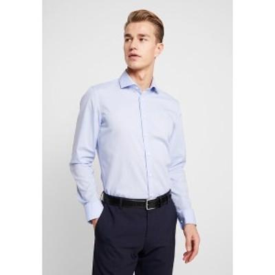 サイデンステッカー メンズ シャツ トップス SLIM FIT SPREAD KENT PATCH - Formal shirt - blue blue