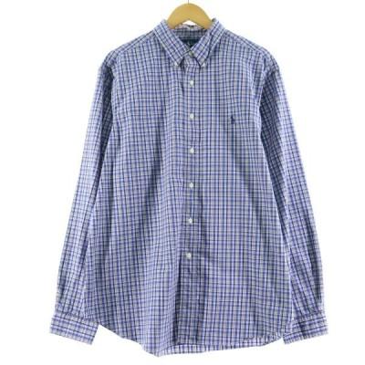 ラルフローレン Ralph Lauren 長袖 ボタンダウンチェックシャツ メンズXXL /eaa098723