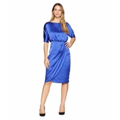 Maggy London マギーロンドン ドレス 一般 Hammered Satin Cocktail Blouson Dress