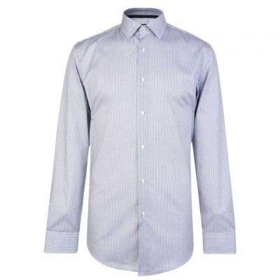 ヒューゴ ボス BOSS メンズ シャツ トップス Slim Fit Jesse Fine Stripe Shirt Navy
