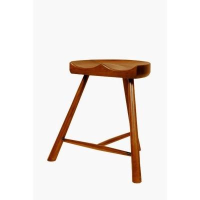 スツール 鞍型 木製 椅子 英国 アンティーク オーク クラシック リプロダクション 茶 レトロ 輸入家具 チェア AC41