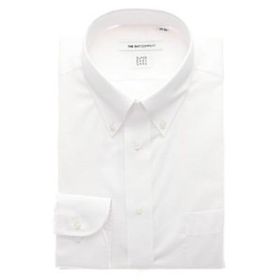 【SUPER EASY CARE・再生繊維】ボタンダウンカラードレスシャツ 織柄〔EC・FIT〕