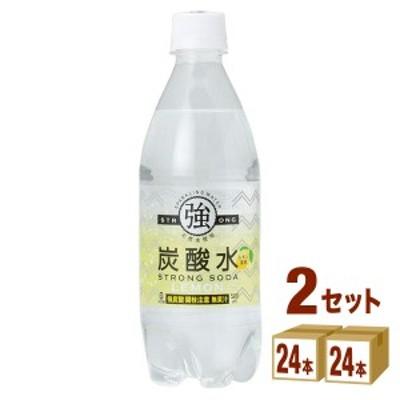 【今だけ特別特価】友桝飲料 強炭酸水 レモン  500ml×24本×2ケース (48本) 飲料