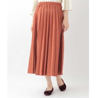 Jocomomola / ホコモモラ ピーチスキンプリーツスカート