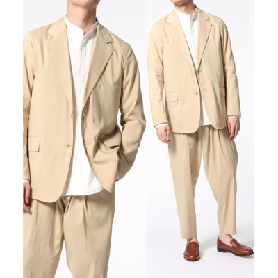 ADAM ET ROPE' / 【Ramie blend】シャツジャケット/セットアップ対応 MEN ジャケット/アウター > テーラードジャケット