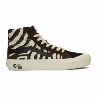 ヴァンズ スニーカー Brown & Off-White Taka Hayashi Edition Style 138 Lx High-Top Sneakers