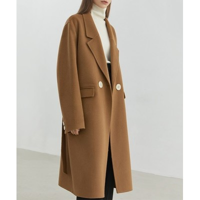 chuclla / 【Fano Studios】【2021AW】River tailored belted wool chester coat FD20W180 WOMEN ジャケット/アウター > チェスターコート