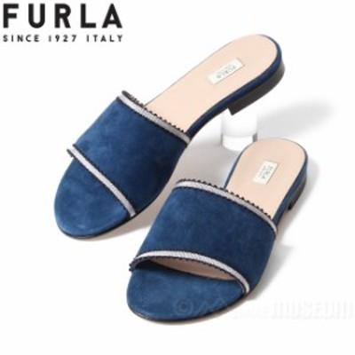 【アウトレット】フルラ FURLA ミュール レディース ブーガンヴィール BOUGANVILLE レザー ブルー BLUE サンダル イタリア製