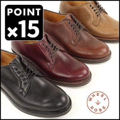 ウィールローブ プレーントゥシューズ WHEEL ROBE WHEELROBE シューズ メンズ グッドイヤー WHEELROBE PLAIN TOE BLUCHER 15066 革靴 短靴 日本製