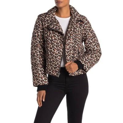 ダイアン フォン ファステンバーグ レディース ジャケット&ブルゾン アウター Paulina Leopard Moto Puffer Jacket TAREN SMAL