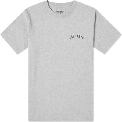カーハート Carhartt WIP メンズ Tシャツ トップス university script tee Grey Heather/Black