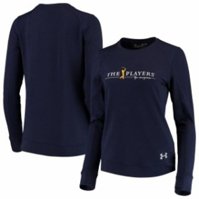 Under Armour アンダー アーマー スポーツ用品  Under Armour THE PLAYERS Womens Navy Tech Terry Tri-Blend Crew Sweatshirt