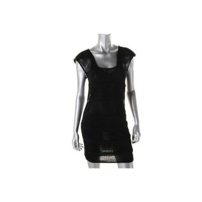 キャサリンマランドリーノ ドレス ワンピース キャットherine Malandrino 6755 レディース ブラック Pointelle カジュアル ドレス S BHFO