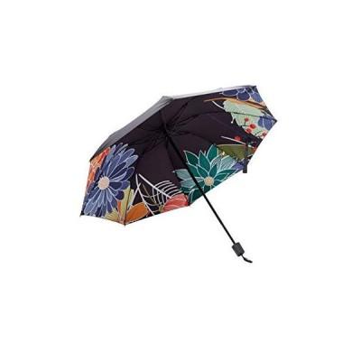 日傘 レディース 折りたたみ傘 花柄 日傘 晴雨兼用 8本骨 UVカット 紫外線遮蔽率100% 遮光 遮熱 耐風 大きい 軽量 通学傘 通勤
