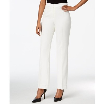 カスパー カジュアルパンツ ボトムス レディース Straight-Leg Modern Crepe Dress Pants White