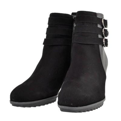 レディース 靴 ブーツ マドラス ソフトウェーブス チャンキーヒール サイドファスナー ショートブーツ 送料無料 ブラック SW6222BLA