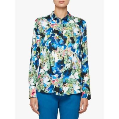 ポールスミス シャツ レディース トップス PS Paul Smith Abstract Floral Print Shirt, Blue