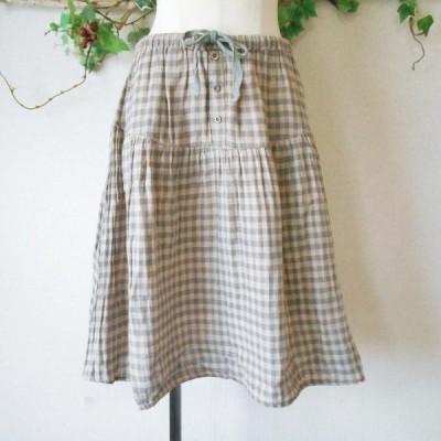 サイレントワース SILENT WORTH ガーゼ 生地 ナチュラル な雰囲気の 春夏 向き スカート