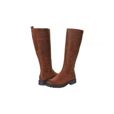 Clarks クラークス レディース 女性用 シューズ 靴 ブーツ ロングブーツ Orinocco 2 Hi - Tan Warmlined Leather