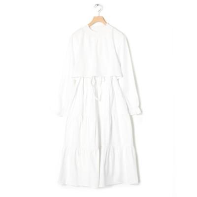 【ダブルクローゼット】 ティアードワンピース レディース オフホワイト FREE w closet